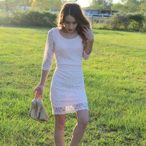 **NEW** Pale Pink Lace Dress
